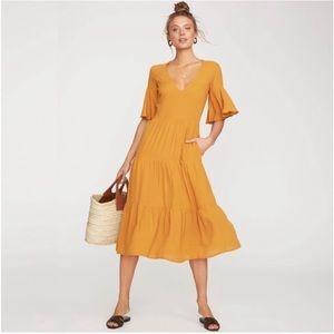 Faithfull The Brand Melia Midi Dress Marigold